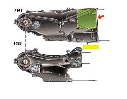 Феррари F14Т, расположение масляного бака 1