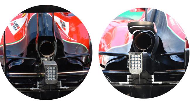 Феррари F14Т различные варианты системы охлаждения,Венгрия 2014