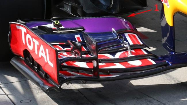 Ред Булл RB10 закрылки на переднем анти-крыле в Венгрии