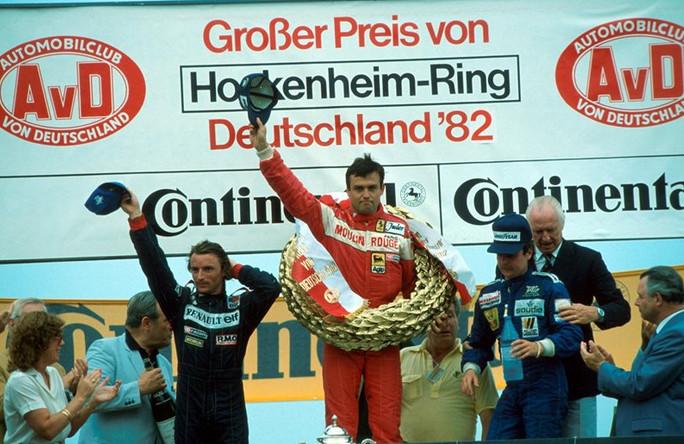Тэмбэй приносит победу Феррари, на Хоккенхайме в 1982 году.