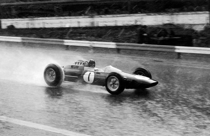 Бриллиантовый Кларк,дождь,Спа-Франкошам,1963 год