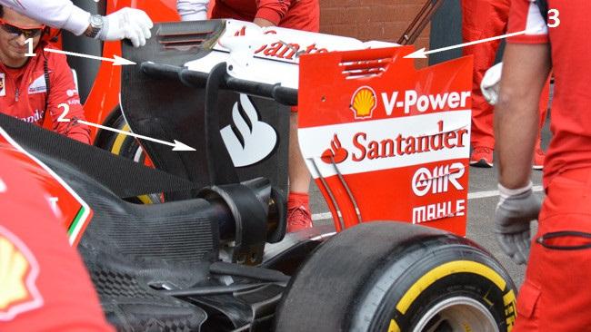 Феррари F14Т задний спойлер, на гран-при Бельгии 2014
