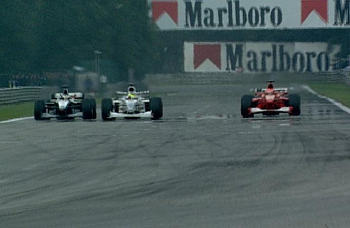 Хаккинен завершает эпический обгон Шумахера на скорости 321км-ч, Спа-Франкошам, 2000