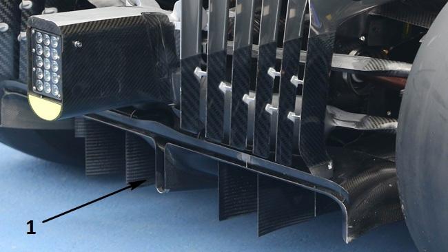 Макларен MP4-29 работа с задним диффузором
