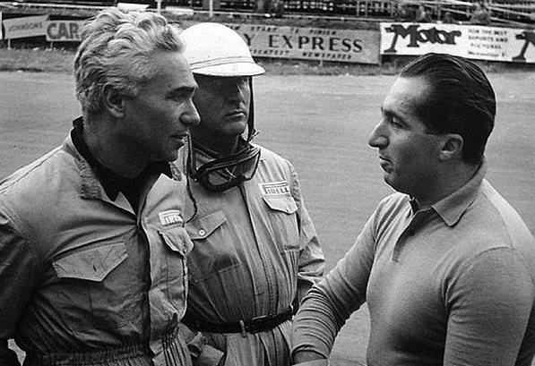 Феррари 1952.Пьеро Таррифи, Джузеппе Фарино и Альберто Аскари (пилоты команды Феррари)