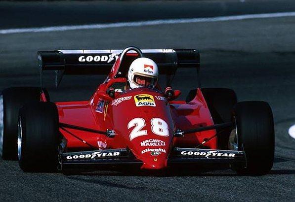 Феррари 1983. Рене Арну на Феррари 126С3, гран-при Дании