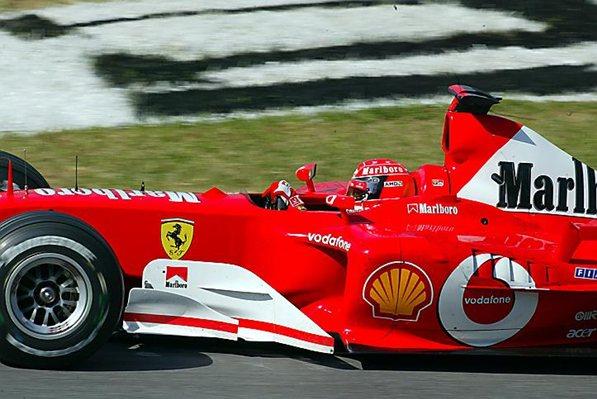 Феррари 2003. Михаэль Шумахер за рулём Феррари Ф2003 - GA,поул гран-при Австралии