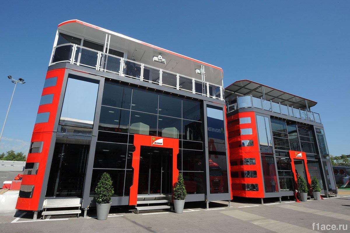Команда Феррари(Ferrari).Моторхоум команды Scuderia Ferrari (Скудерия Феррари)