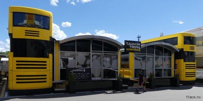 Моторхоум команды Рено Ф1