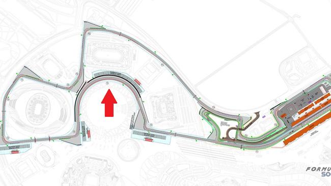 Самый длинный поворот в Формуле 1, на автодроме в Сочи