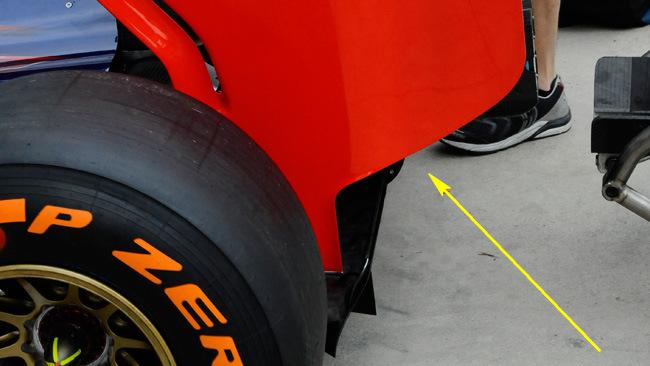 Торо Россо STR09 заднее антикрыло на гран-при Италии 2014