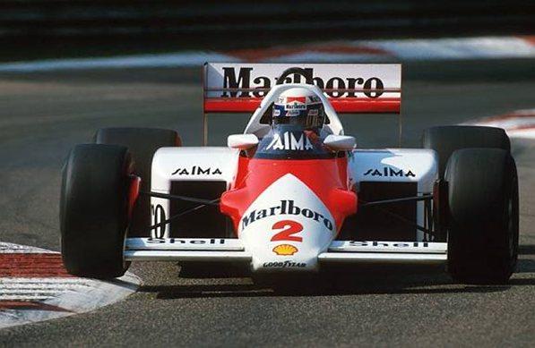 Алан Прост (Макларен MP4-2В) победитель Г-п Италии,Монца, 8 сентября 1985 год