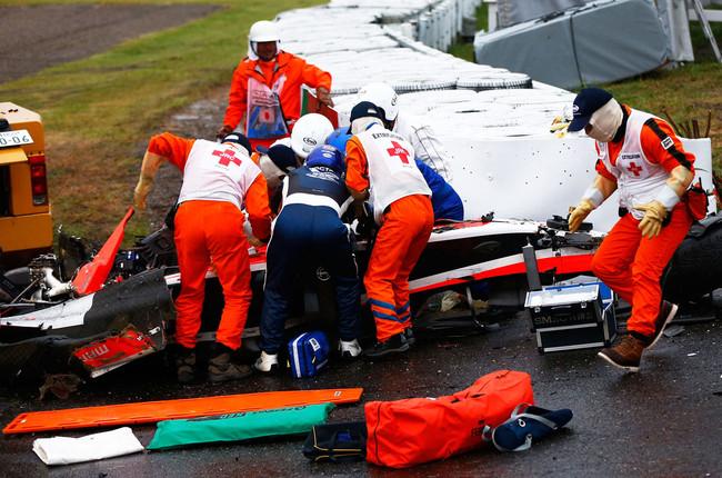Авария Бьянки на гран-при Японии 2014.Пресс-релиз ФИА
