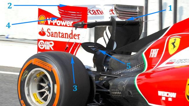 Феррари F14Т новое заднее анти крыло на гран-при Японии