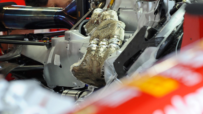 Феррари F14Т теплоизоляция выхлопных труб, гран-при Японии