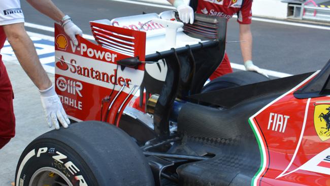 Феррари F14Т трубки Питот на заднем крыле