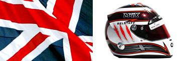 Макс Чилтон, шлем,флаг