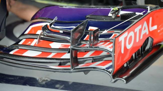 Ред Булл RB10 переднее анти крыло на гран-при Японии