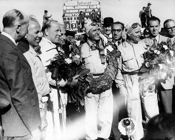 Возраст пилотов Формулы 1 от самых молодых до 50-х лихачей.Нино Фарина,Сильверстоун, май 1950 года.