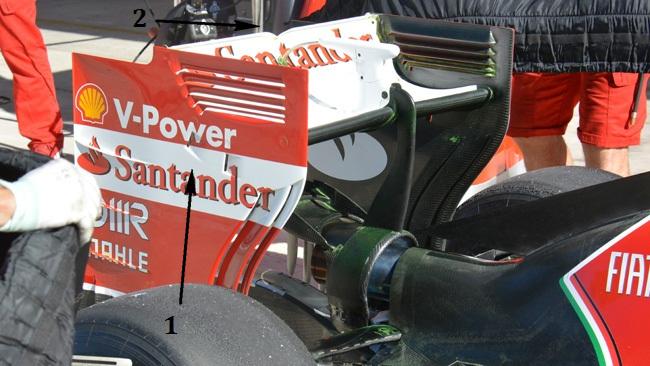 Феррари F14T, новый задний спойлер в США
