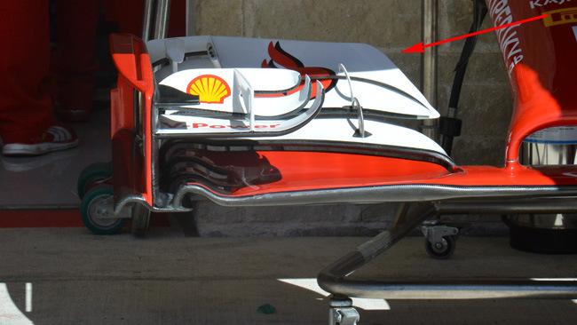 Феррари F14T, передний спойлер в США