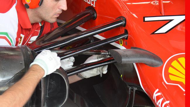 Феррари F14T, высота посадки болида
