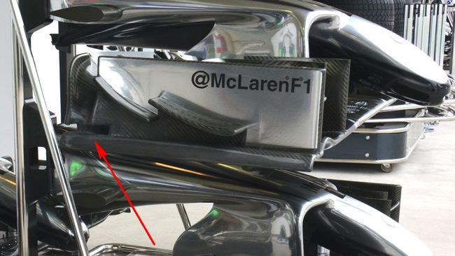 Макларен MP4-29 Изменение торцевой пластины в Бразилии