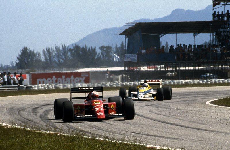 Мэнселл берёт шокирующую победу в дебютном за Феррари гран-при, Рио-де-Жанейро, 1989 год