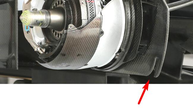 Уильямс FW36, тормозные воздуховоды на гран-при США 2014