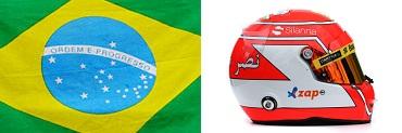 Фелипе Наср,флаг,шлем