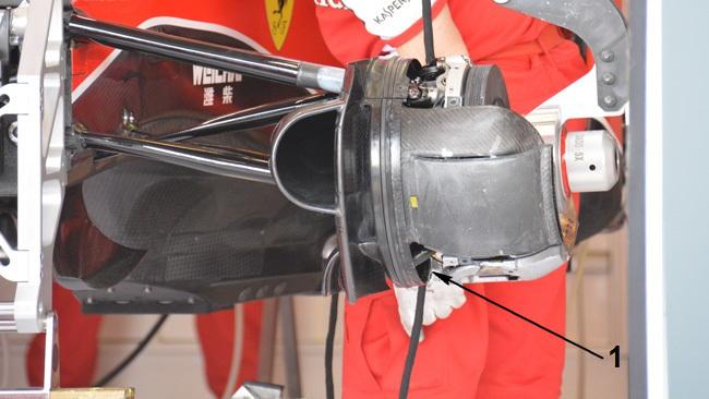 Обновления болида Феррари SF15T в Австралии.Феррари SF15T, Передний тормозной суппорт