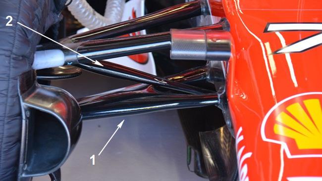 Феррари SF15T,Передняя подвеска. Схема «pull rod» (схема «тяга»). Камертон. Австралия