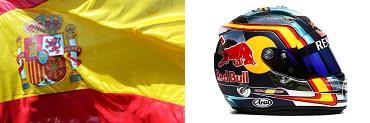 Карлос Сайнс мл.,шлем,флаг
