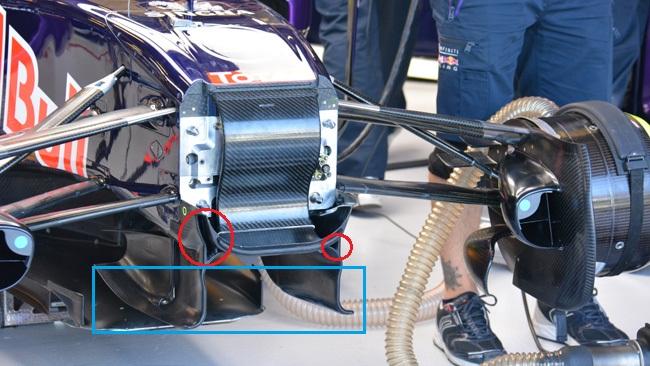 Обновления болида команды Ред Булл RB11 в АвстралииРед Булл RB11, S-канал на болиде Ред Булл, Австралия.