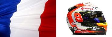 Роман Грожан,шлем,флаг