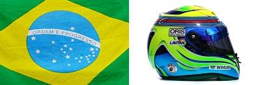 Шлем,флаг Фелипе Масса