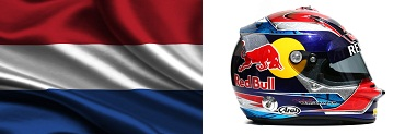 Верстаппен, шлем,флаг