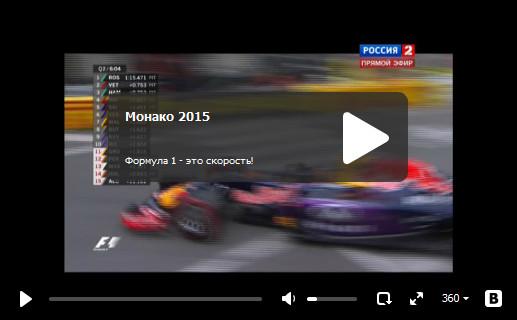 Смотреть квалификацию гран-при Монако 2015