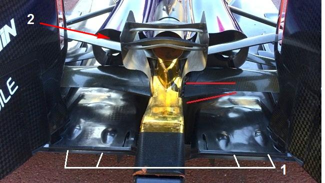Обновления болида Ред Булл RB11 в Монако.Ред Булл RB11, Двойное место обезьяны, Монако 2015.