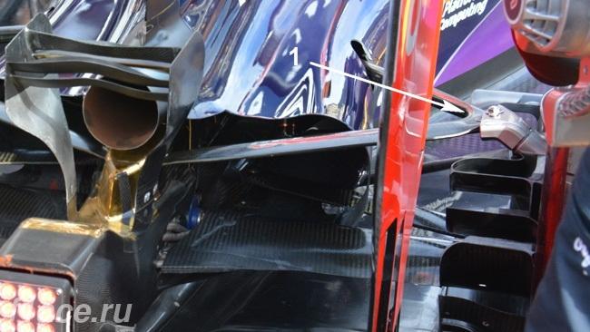 Ред Булл RB11,Задняя подвеска, Монако 2015.