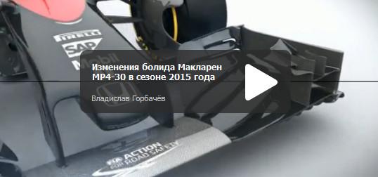 Изменения болида Макларен MP4-30 в сезоне 2015 года