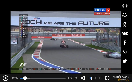 Смотреть гонку гран-при России 2015, Сочи.