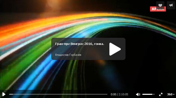 Смотреть гонку на гран-при Венгрии 2016